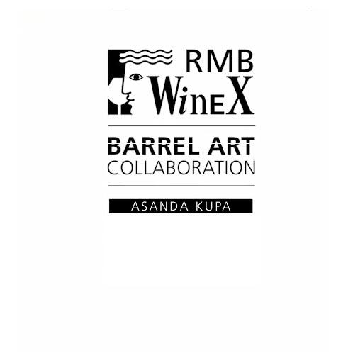 RMB WineX barrel art collaboration - Asanda Kupa
