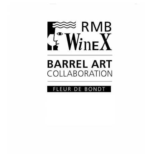 RMB WineX barrel art collaboration - Fleur De Bondt