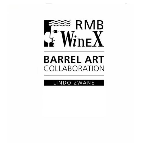 RMB WineX barrel art collaboration - Lindo Zwane
